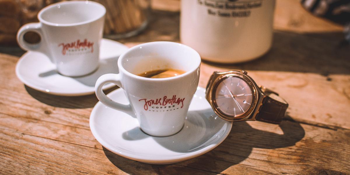 Coffee & clock