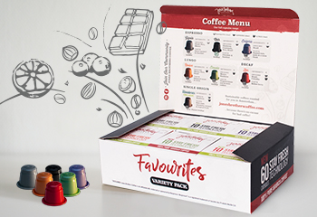 Favourites 60 coffee capsules Nespresso compatible