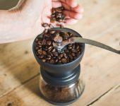 grind coffee with Skerton grinder   Jones Brothers Coffee