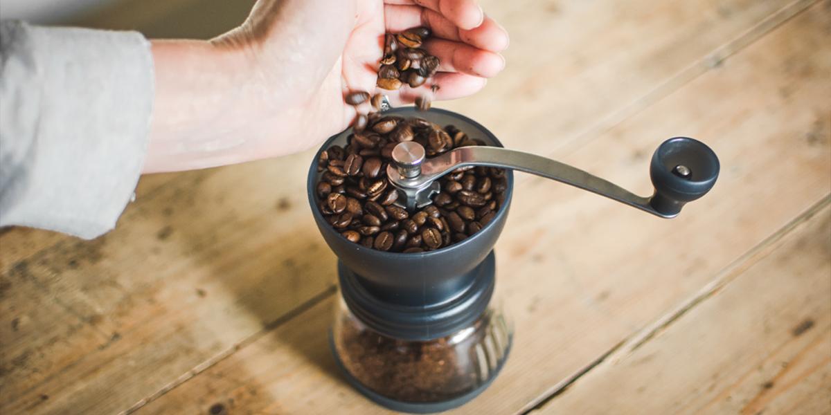 grind coffee with Skerton grinder | Jones Brothers Coffee